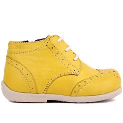 Sail Lakers-Yellow Leather Baby Shoe