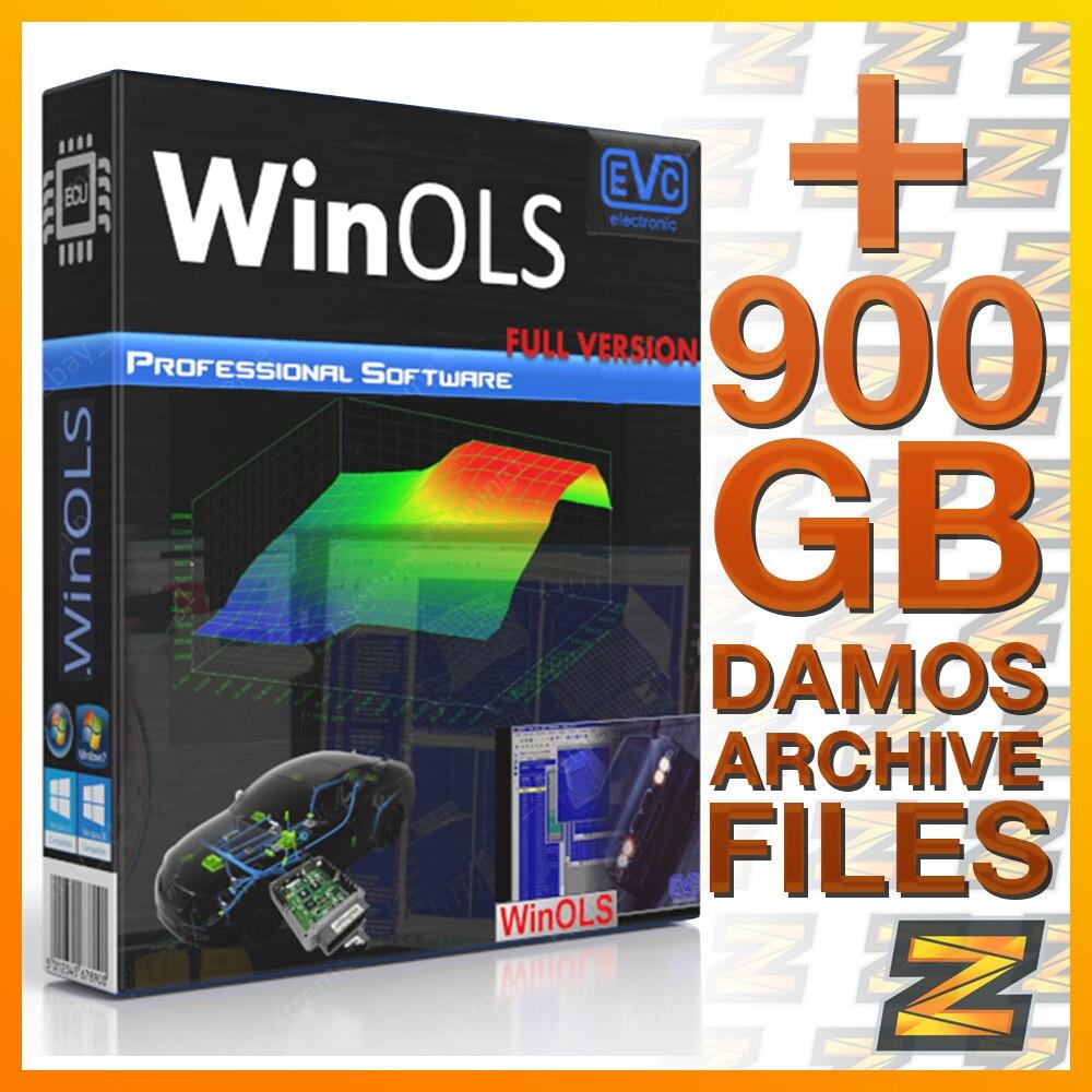 WinOLS программное обеспечение + крупнейшая WinOLS Damos & a2l коллекция файлов (900 ГБ) с легкой загрузкой и разблокировкой Win Ols