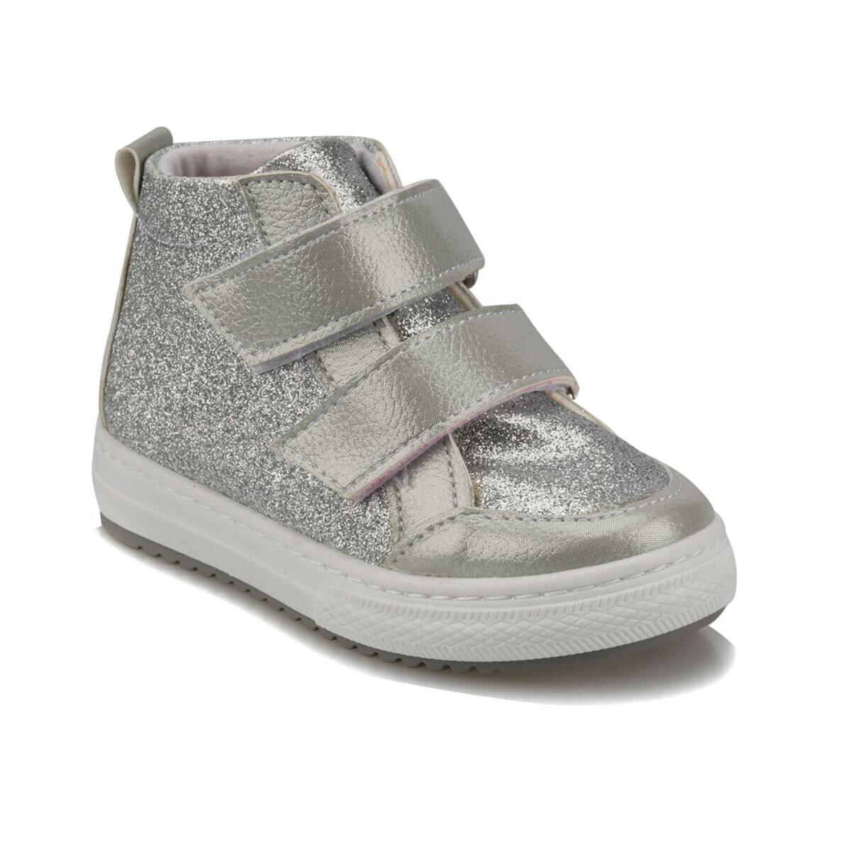 Anne ve Çocuk'ten Botlar'de FLO 92.512018.B Gümüş Kız Çocuk Sneaker Ayakkabı Polaris title=