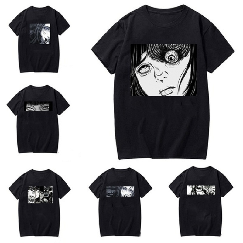 New Arrival Women Man Fashion Japanese Goru Art Anime Manga Horror Junji Ito Graphic T Shirt Casual Harajuku Style Short Sleeve