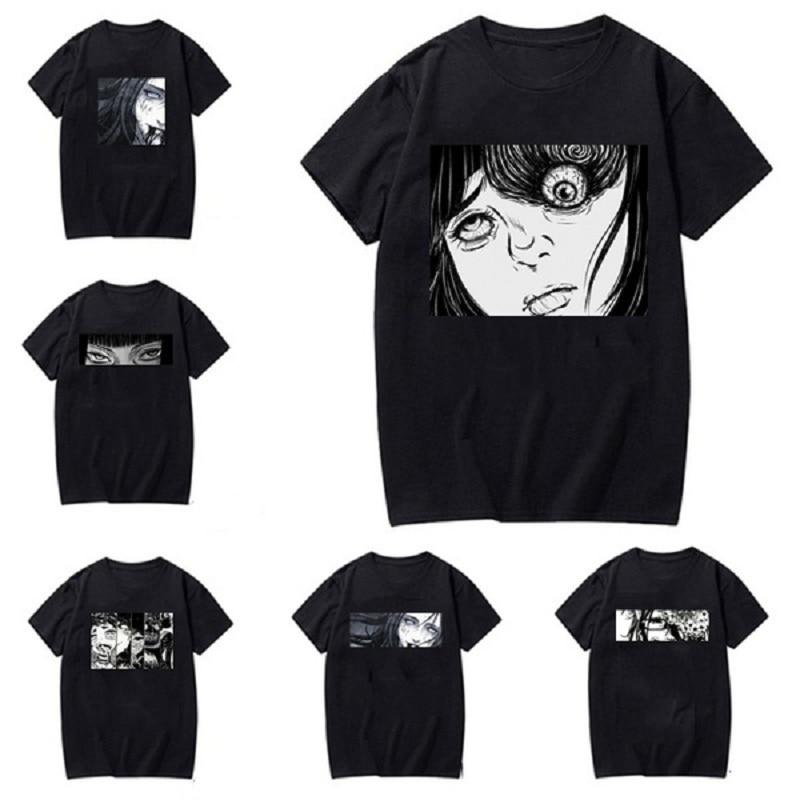 New Arrival Women Man Fashion Japanese Goru Art Anime Manga Horror Junji Ito Graphic T Shirt Casual Harajuku Style Short Sleeve