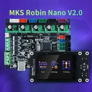Makerbase MKS Robin Nano V2.0 32Bit carte de commande pièces d'imprimante 3D base sur Marlin2.x 3.5 tft écran tactile aperçu Gco