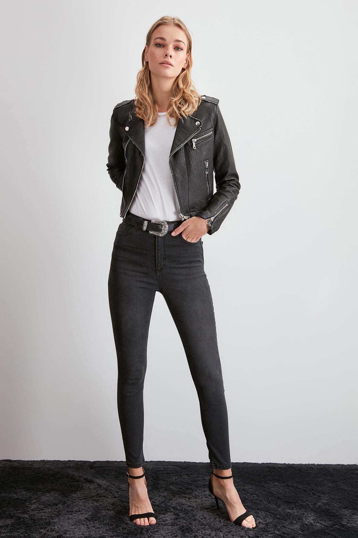 Trendyol High Waist Skinny Jeans TWOAW20JE0375