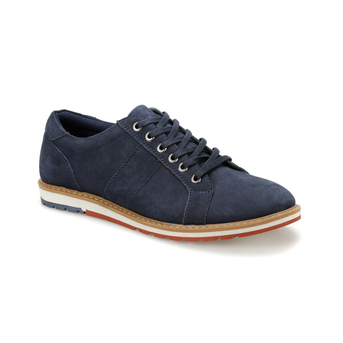 FLO MKM-91115 Navy Blue Men 'S Shoes Oxide