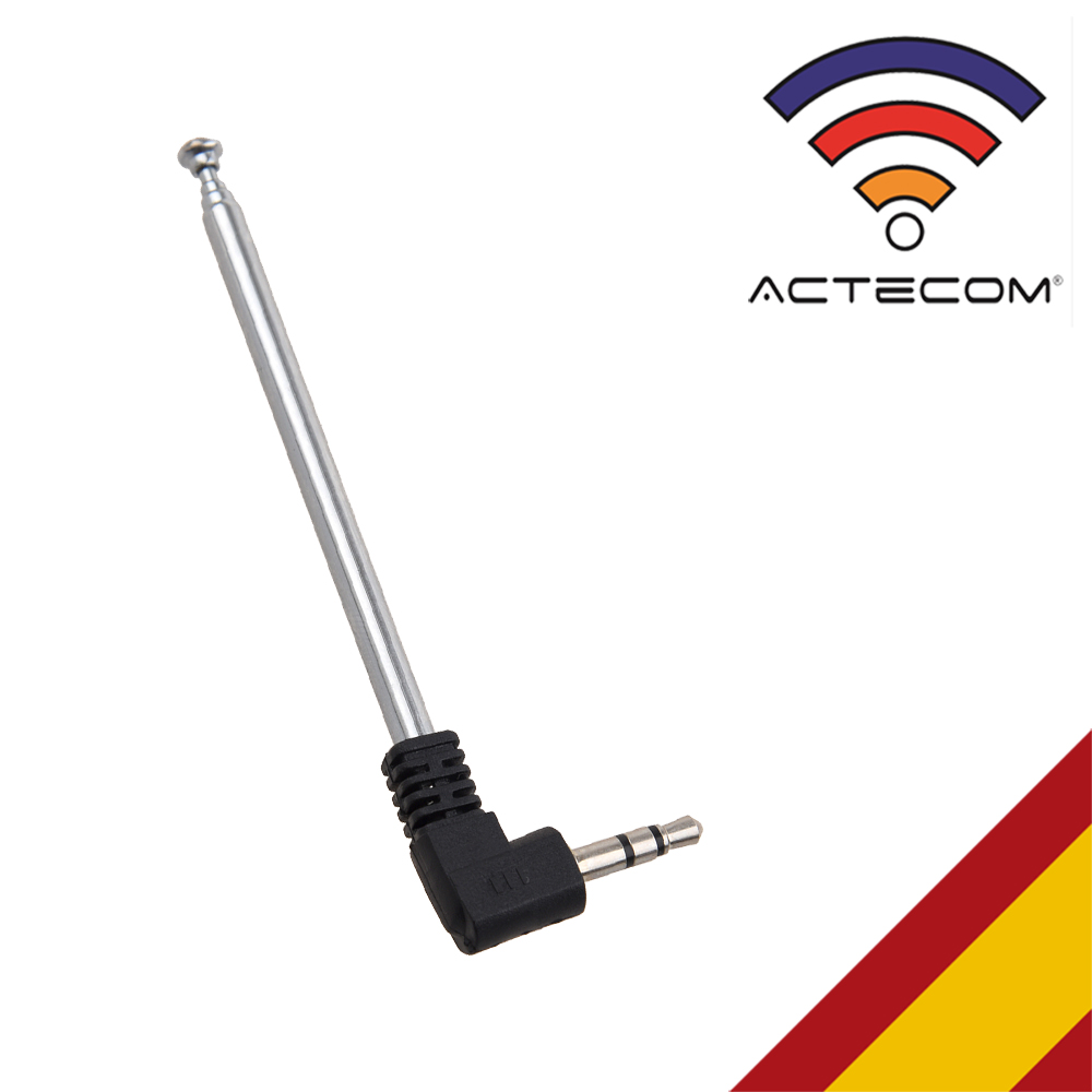 ACTECOM Jack 3,5 Mm FM Antena De Radio Jack Telefono Movil Antena Retractil Radio FM Para Movil 8.5cm/21cm