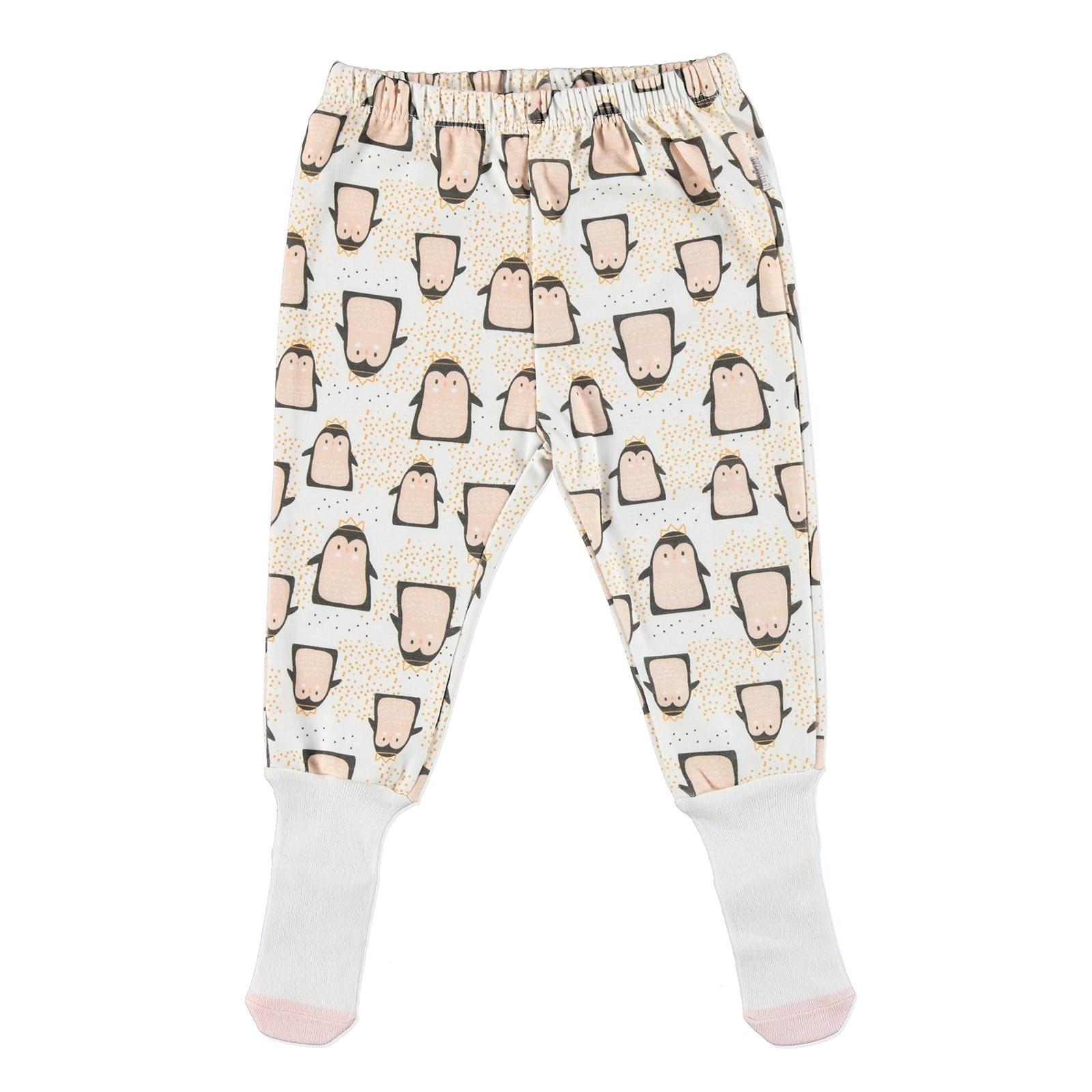 Ebebek Premini Penguin Organic Baby Footed Trousers