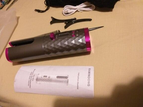 Modelador de Cachos Automático Sem Fio Portátil Carregamento USB Curl Beauty photo review