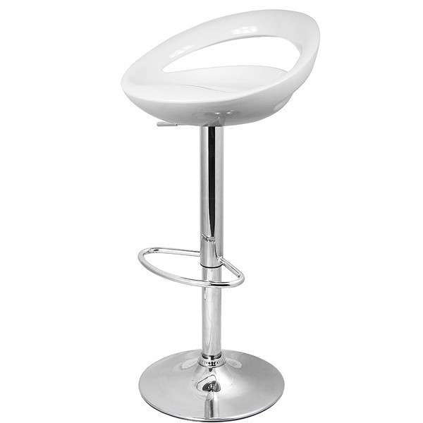Stool FLIT (L), Plating, White Abs