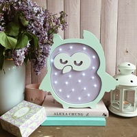 Children's nightlight owli совушка owlet little bird toy plush lamp children's night light for child baby gift home decor