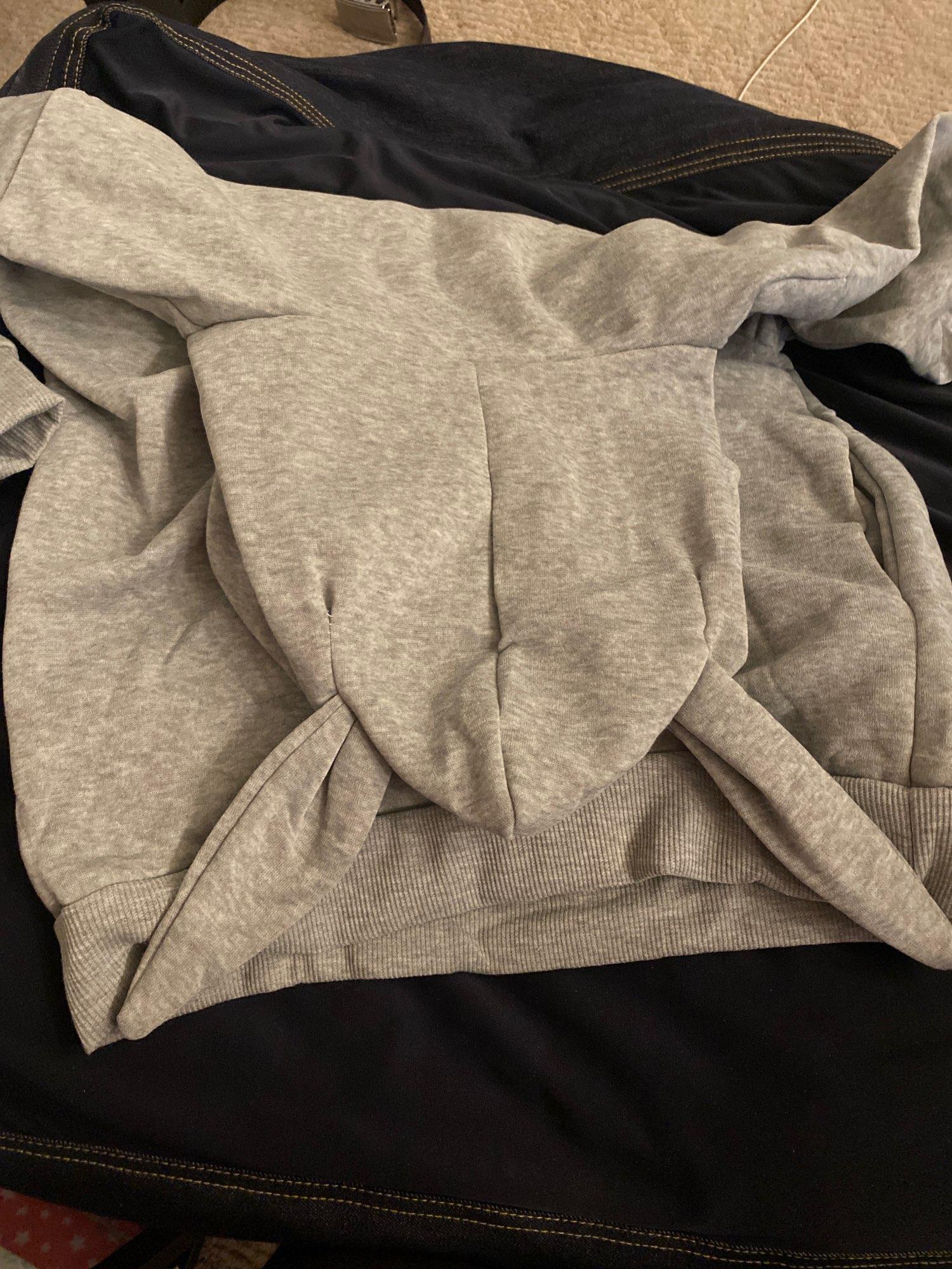 Rabbit Ear Sweatshirt Plain Oversized Hoodie Dress Tunic Long Sleeve Women Poleron Mujer 2020 Kangaroo Pocket Hoodie Boyfriend photo review