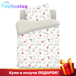 КПБ Delicatex детск. поплин Непоседа (40х60) рис. 8956-1/8957-1 Добрые привидения