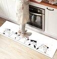 Else Белый Черный забавные Маленькие кошки 3d принт нескользящие микрофибры Кухня Счетчик современный декоративный моющийся коврик