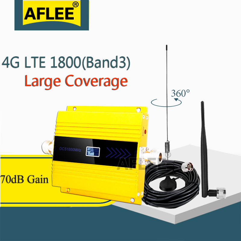 Big Sale!! 1800Mhz 4G Cellular Amplifier DCS LTE 1800 4G NetWork Mobile Signal Booster 1800 2g 4g Repeater Gsm 2g 3g 4g Booseter