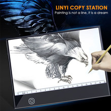 Portable A5 Writing Digital Drawing Tablet Graphic Tablets LED Light Box Pad Electronic Tracing Art Copy Board Painting Table mini a5 led light pad box light pad drawing tracing tracer copy board table pad copy board 3 brightness for diamond painting