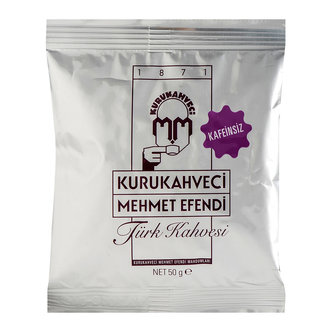 Kurukahveci Mehmet Efendi Decaf Turkish Coffee 50 Gr x 2 pieces image