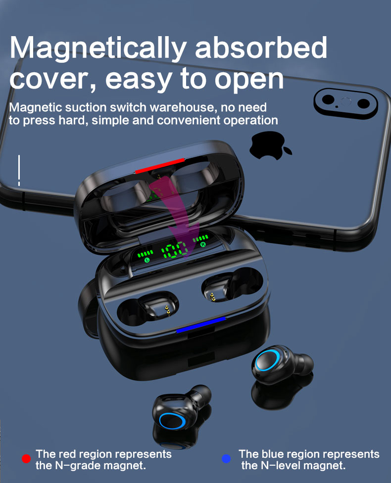 TWS Wireless Earbuds with Power Bank 97