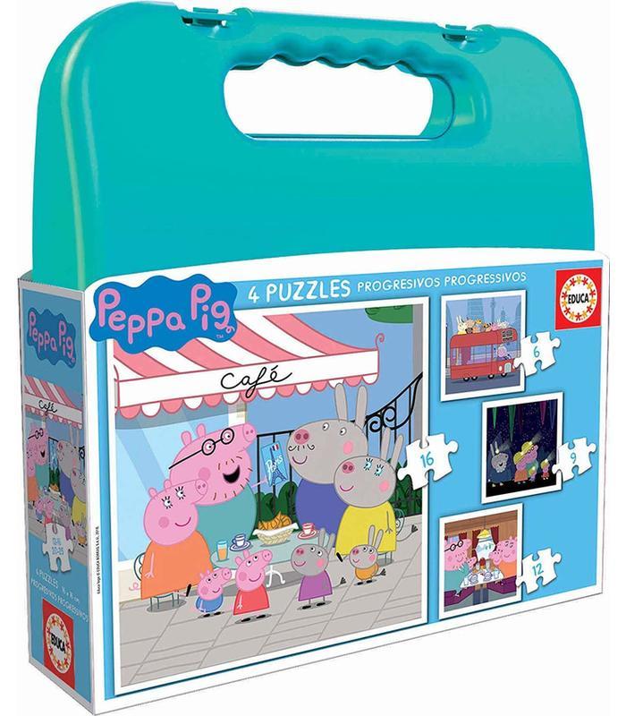 Suitcase Progressive Peppa Pig 6-9-12-16 Toy Store