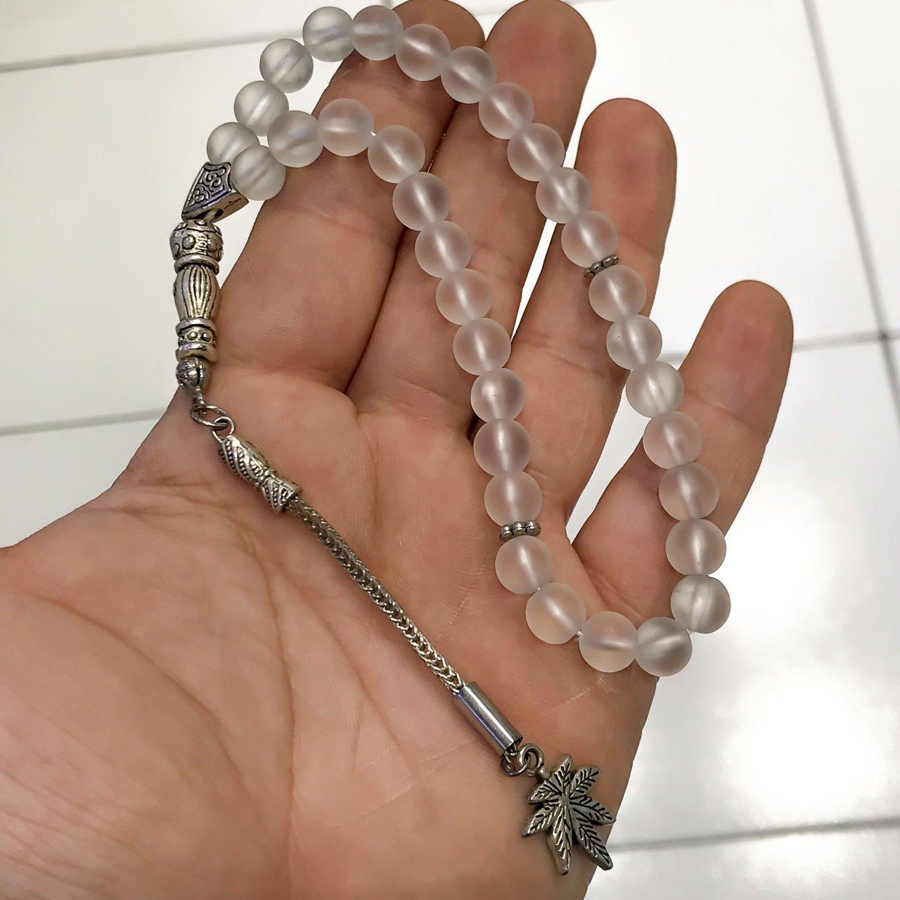 White Crystal Stone Rosary()