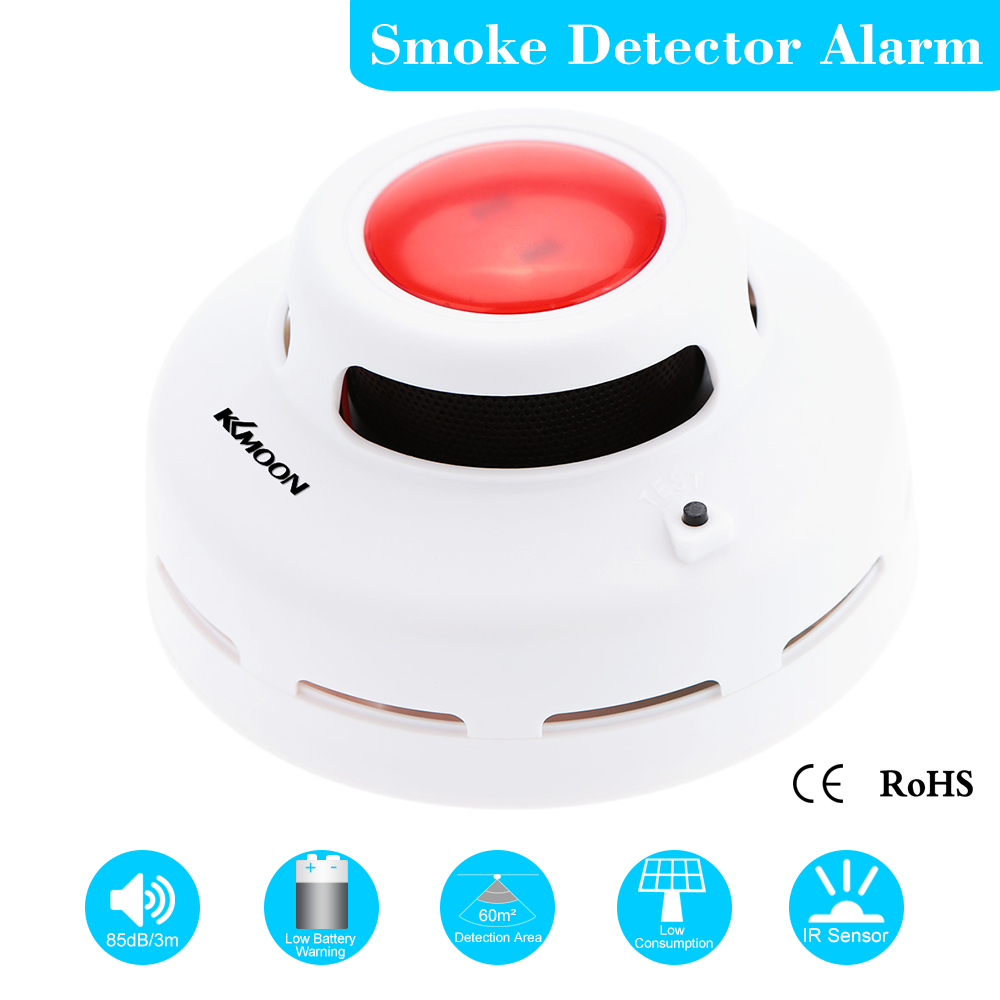 High Sensitive Stable Independent Alarm Smoke Fire Sensitive Detector Home Security Wireless Alarm Smoke Detector Sensor Fire