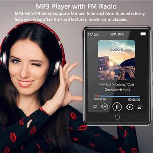 """Image 4 - Lecteur MP3 Bluetooth 2.8 """"plein écran tactile Portable 32GB intégré grande mémoire HiFi lecteur de musique FM Radio podomètre vidéo Playe"""