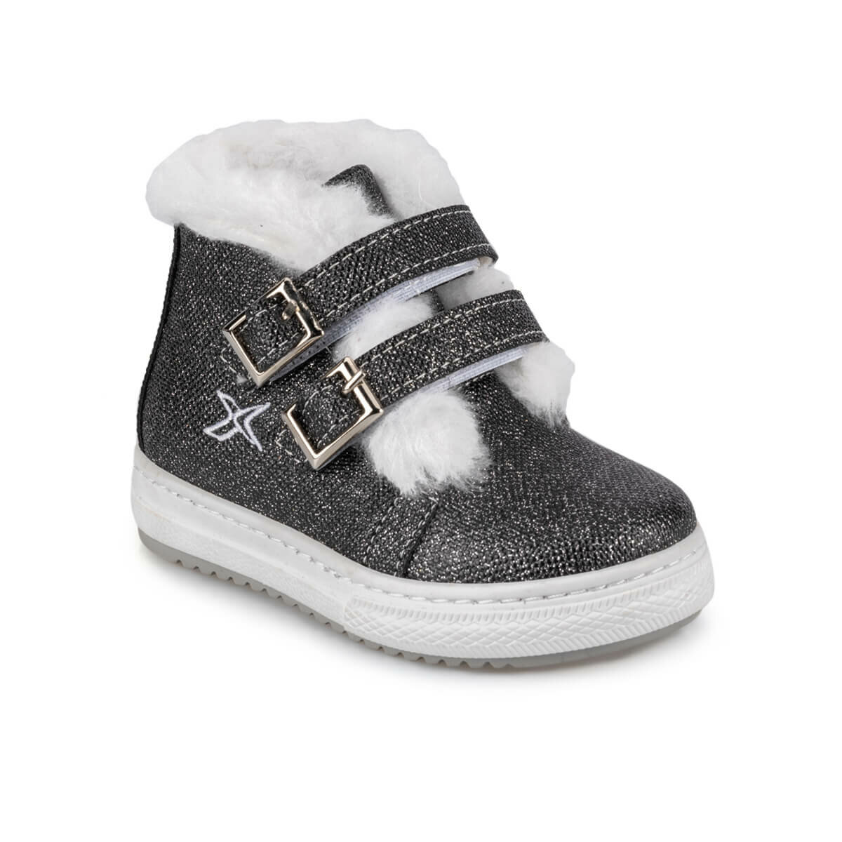 FLO HOLA 9PR Gray Female Child Boots KINETIX
