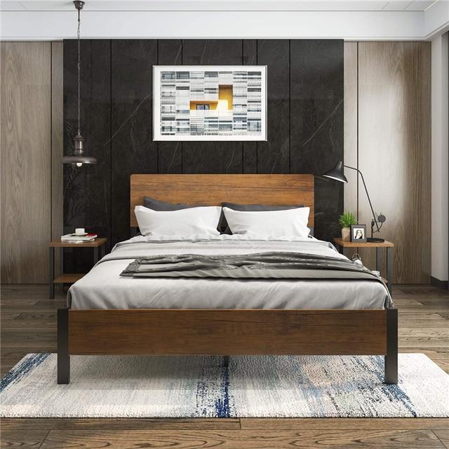 Full Size Metal Platform Bed Frame with Headboard /Footboard 3