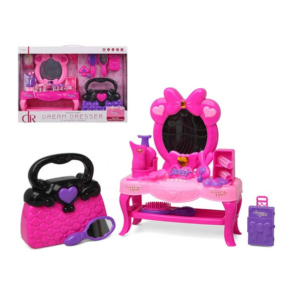 Child's Hairedressing Set Dream Dresser Pink 111446