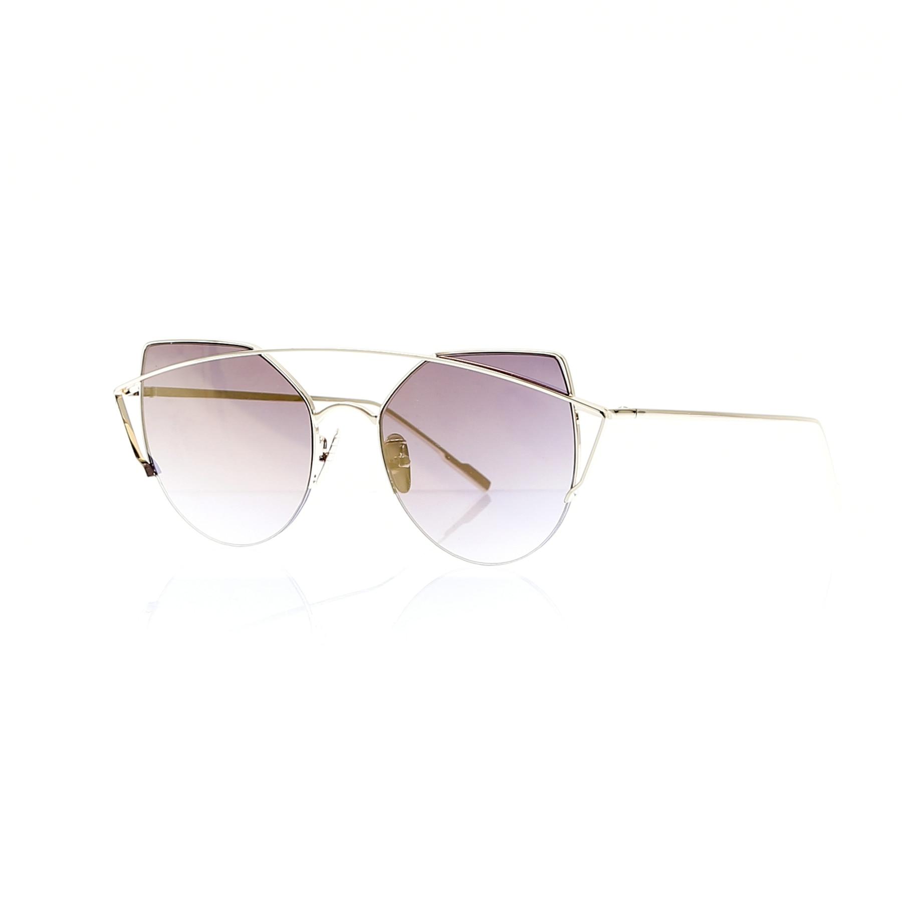 Women's sunglasses ldy 1937 52 metal yellow organic half frame aval 56-18-140 lady victoria