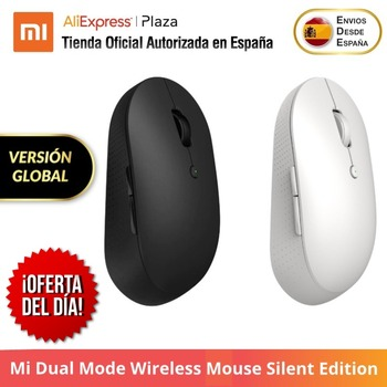 Xiaomi Mi Dual Mode Wireless Mouse Silent Edition,Bluetooth 2.4 GHz, Two Side Buttons Original Global Version