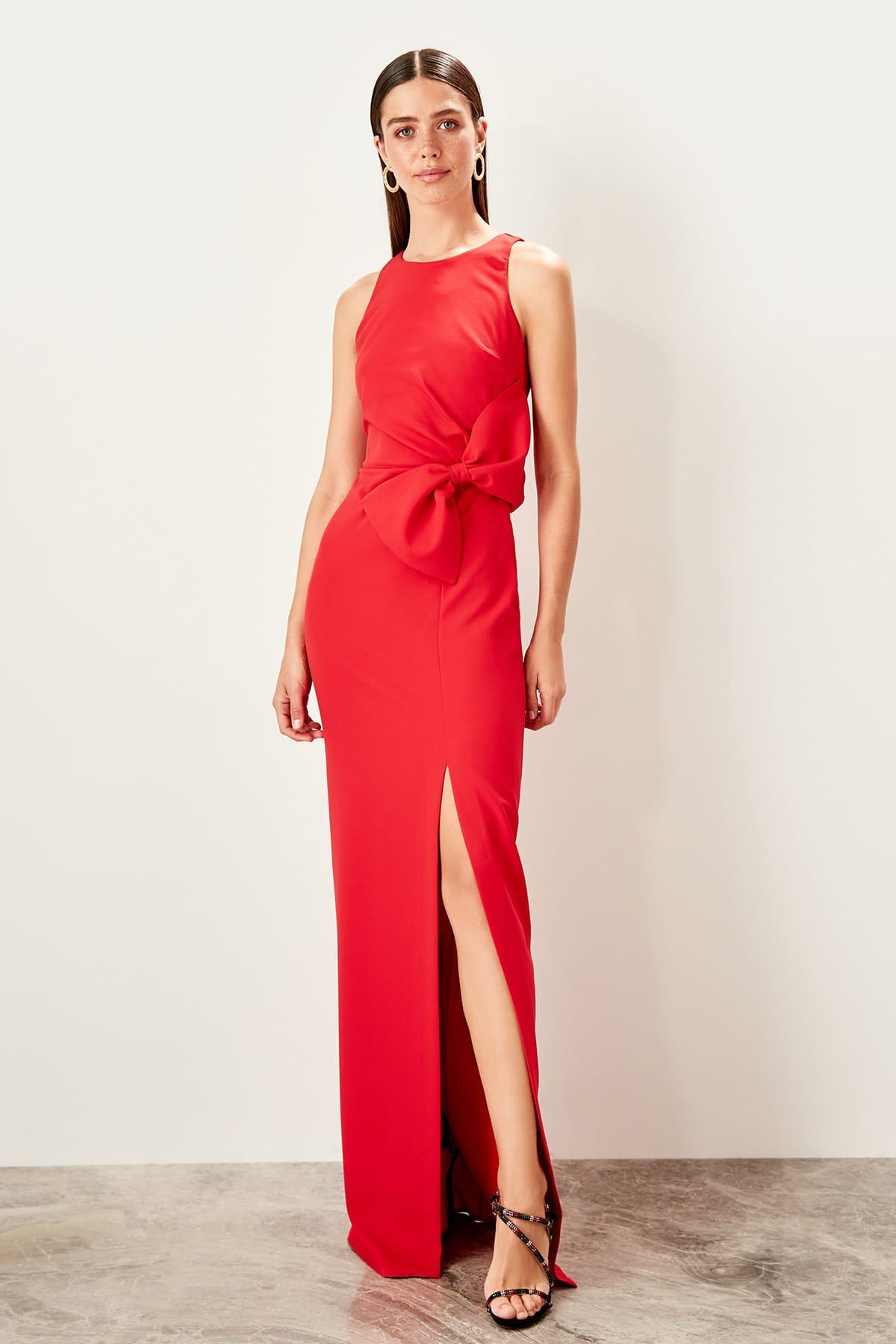 Trendyol Bow Detailed Evening Dress TPRSS19FZ0381