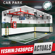 Yeshin Techic Auto Onderdelen De 1:8 Technic Parkeer Model Vergadering Kits Bouwstenen Bricks Auto Accessoire Kids Christmas Gift