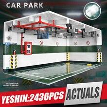 Yeshin Techic części samochodowe 1:8 Technic Parking Model zestawy montażowe klocki klocki akcesoria samochodowe dzieci prezent na boże narodzenie