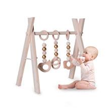 Hanging-Bar Activity-Center 3-Months Baby Gym for Infant Over Frame Wooden Toddler Old