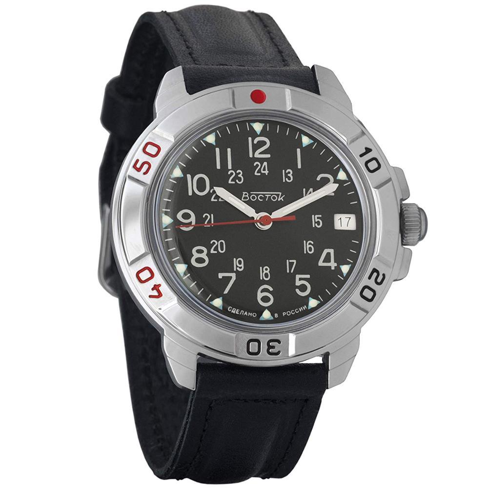 Watch Vostok Komandirskie 431783 Mechanical Men's Military Watch Hand Winding Black Dial
