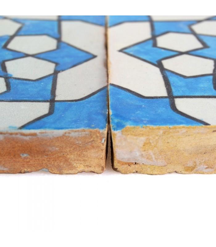 Azulejo Andalusí - 10 cm - Handmade - Model 42