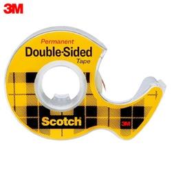 Cinta de doble cara 3M 136D material escolar de oficina cintas adhesivas sujetadores cinta adhesiva de doble cara Scotch en el mini dispensador transparente