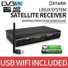 decodificador satelite Ostark ASX Pro DVB-S2 receptor satelite sistema linux USB wifi incluido envio desde españa