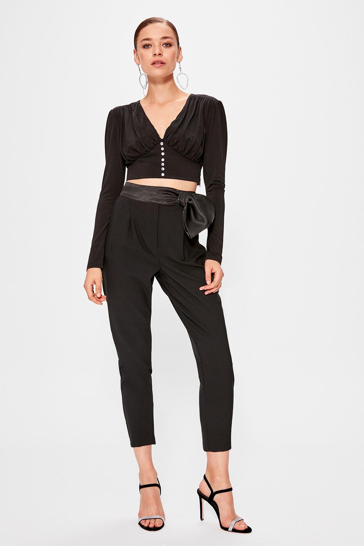 Trendyol Ribbon Detail Pants TPRAW20PL0157