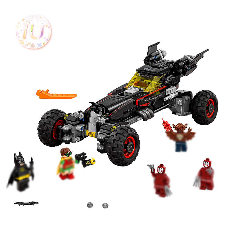 legoings BELA 10634 Super HeroThe Batmobile Building Blocks Educational Birthday Gifts Toys For Children 611Pcs Compatible 70905