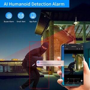 """Image 5 - Hiseeu 8CH 3MP كاميرا مراقبة لاسلكية طقم CCTV مع 10.1 """"رصد ل 1536P 1080P 2MP في الهواء الطلق نظام الكاميرا الأمن مجموعة"""