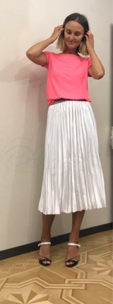 High Quality Women Summer Pleated Skirt Stretch High Waist Women Long Skirt Female Jumper Women Midi Skirt Saia photo review