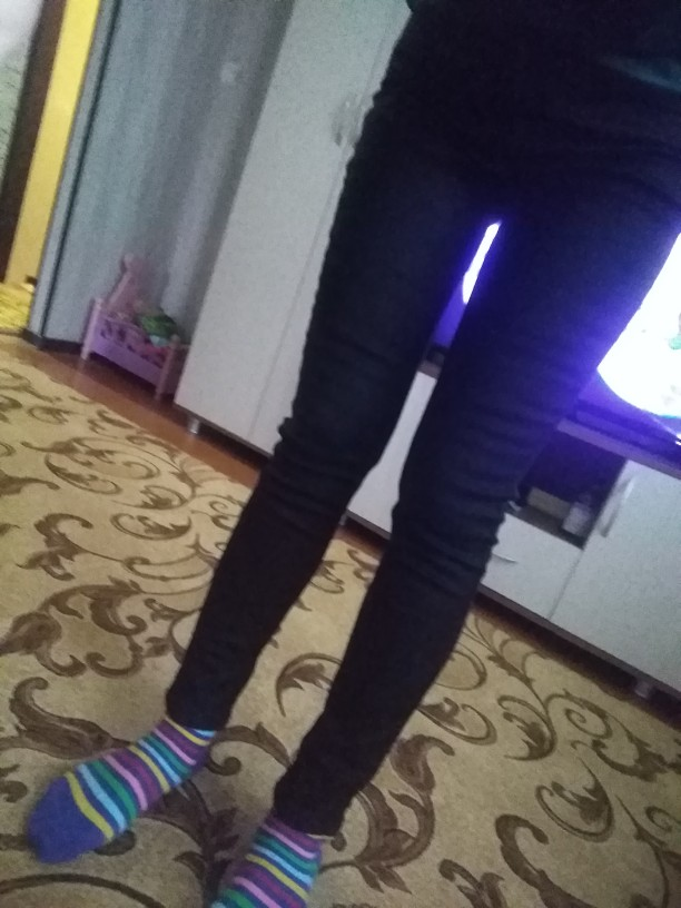 Women'S High Rise Brushed Slim Fit Jeansthermal &Amp; Comfortable Leopard Print photo review