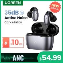 【NEW】UGREEN HiTune X6 Wireless Headphones Bluetooth 5.1 Earphones TWS Earbuds ANC 35dB Hybrid Active Noise Cancellation 50ms