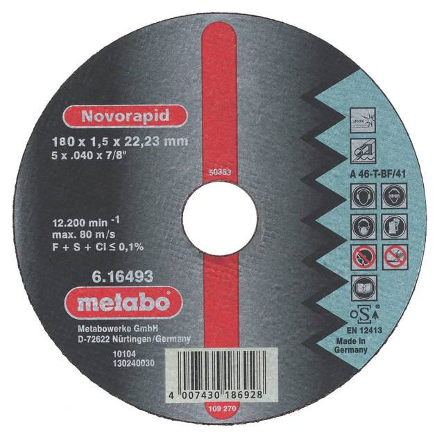 Circle Cutting METABO 150х3х22 616448000