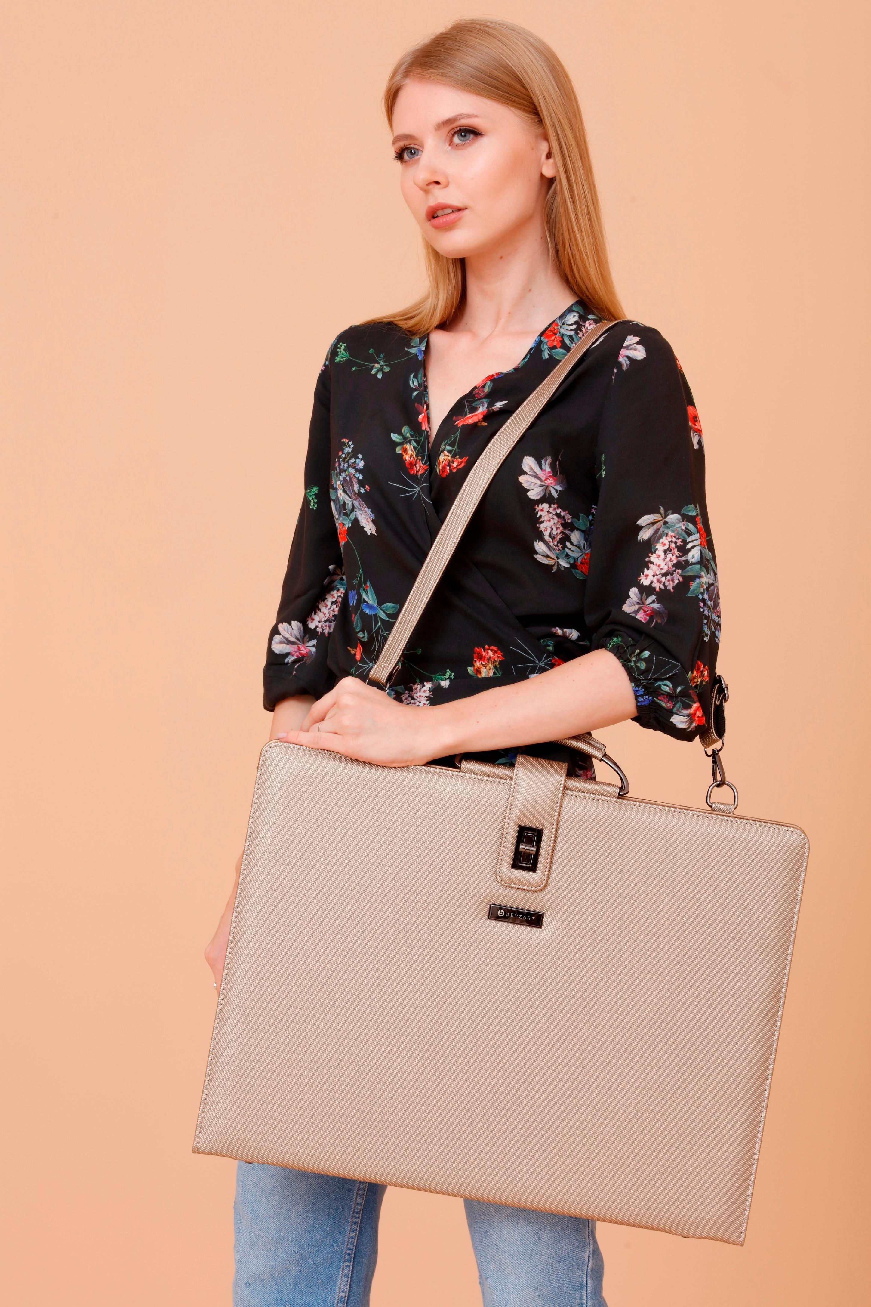 Beyzart Luxury Art Portfolio Case Artist Carrying Bag Premium Business Artwork Strorage Folder Art Organizer Briefcase