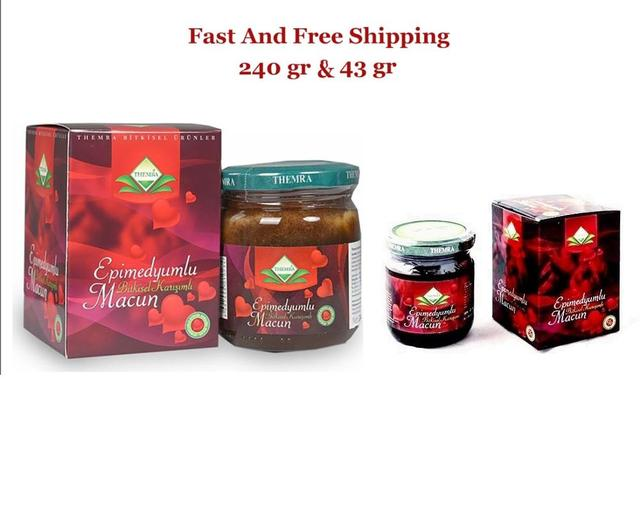 Turkish Epimedium Paste Horny Goat Grass, Ginseng Herbal Aphrodisiac 240g + 43 gr Free Shipping 1