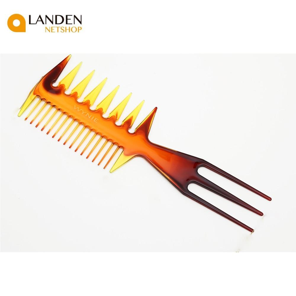 Extremos dobles 2 en 1 peines de colores para el cabello cepillos de plástico tinte de peluquería herramientas para estilizar
