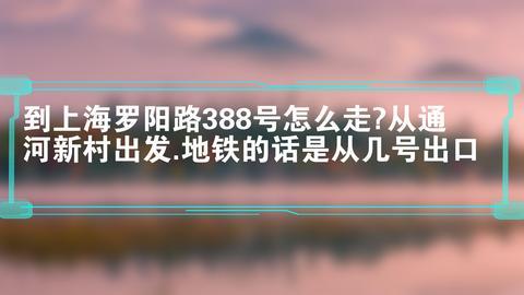 到上海罗阳路388号怎么走?从通河新村出发.地铁的话是从几号出口