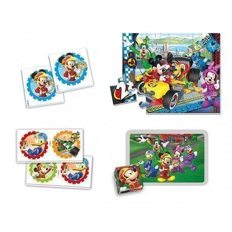 Clementoni Edukit 4 In 1 Mickey Top Parting Educational Game