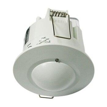 Detector de movimiento Electro DH por microondas, empotrable a techo, ángulo 360º, ajustable, 60.252/RF/EMP